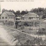 1900 Le moulin à eau à Chappes près de la forêt d'Orient en Champagne Ardenne
