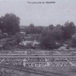1908 Les fosses du moulin à eau à Chappes dans l'Aube en Champagne Ardenne