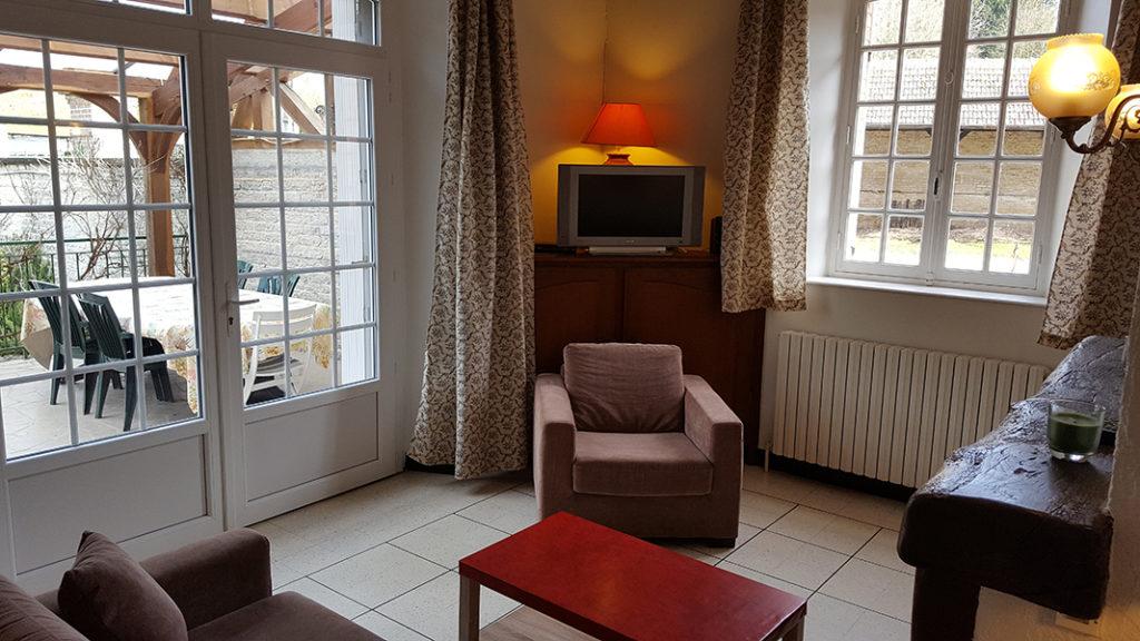 Gîte groupe du moulin à eau près de Paris, gîte cottage, salon